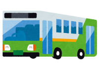 リバーシブルレーンを走行するバス